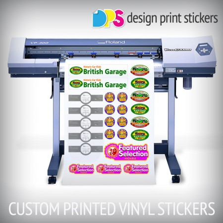 Custom printed vinyl stickers design print stickers