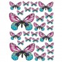 Pink Yellow Butterfly Stickers